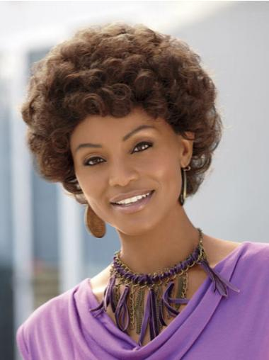 Classy Short Curly Capless African American Wigs