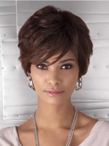 Beautiful Short Straight Capless African American Wigs