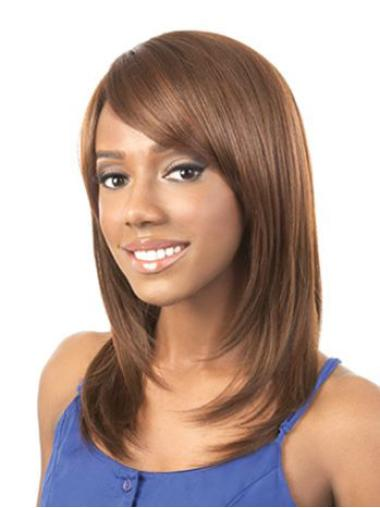 Comfortable Long Straight Capless African American Wigs