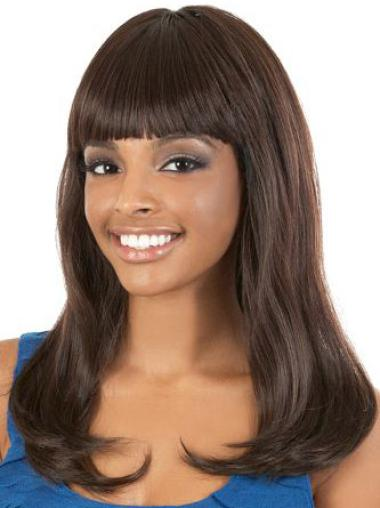 Flexibility Long Wavy Capless African American Wigs