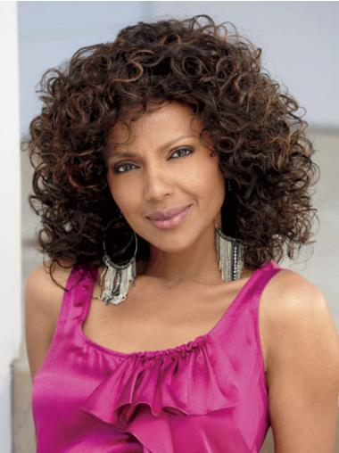 Sassy Long Curly Capless African American Wigs