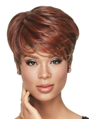 Affordable Short Wavy Capless African American Wigs
