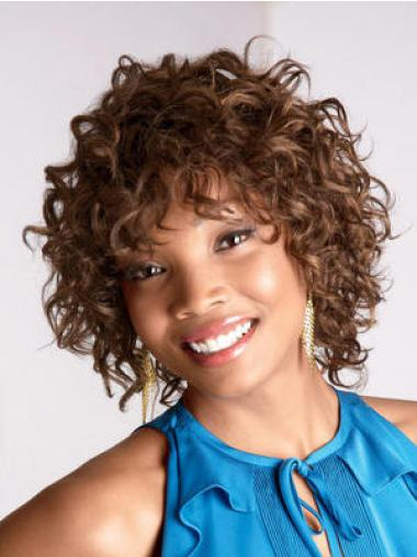 Trendy Medium Curly Capless African American Wigs