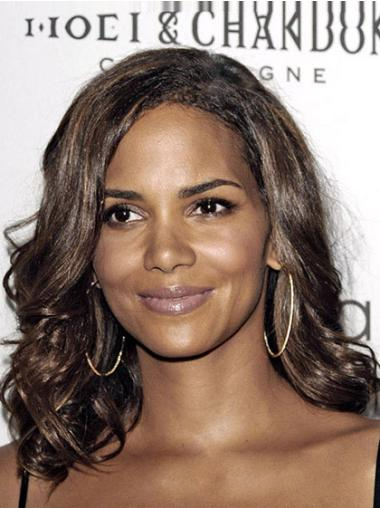 Hairstyles Medium Wavy Lace Front African American Wigs