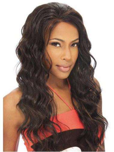 Beautiful Long Wavy Lace Front African American Wigs