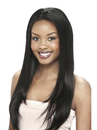 """24"""" Straight Lace Front African American Wigs"""