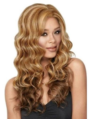 Cheap Long Wavy Lace Front African American Wigs