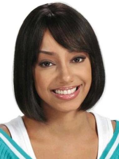 Good Medium Straight Capless African American Wigs