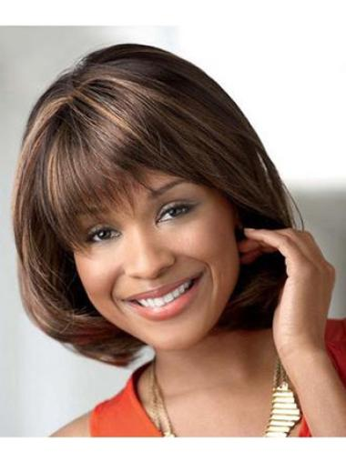 "Fashion 10"" Straight Capless African American Wigs"