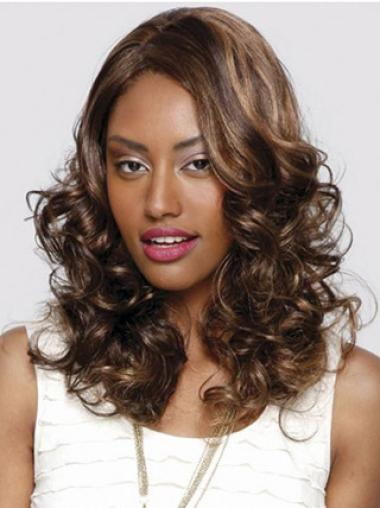 """Designed 16"""" Curly Lace Front African American Wigs"""