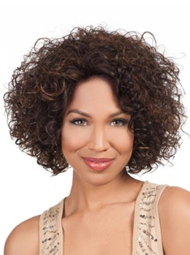 Fashion Short Curly Lace Front African American Wigs