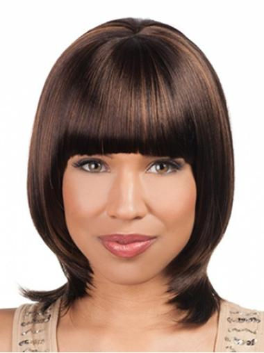 """Ideal 16"""" Straight Lace Front African American Wigs"""