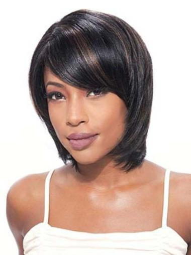 "Perfect 10"" Straight Lace Front African American Wigs"