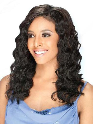 "No-fuss 16"" Wavy Lace Front African American Wigs"