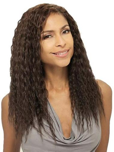 Classy Long Wavy Capless African American Wigs