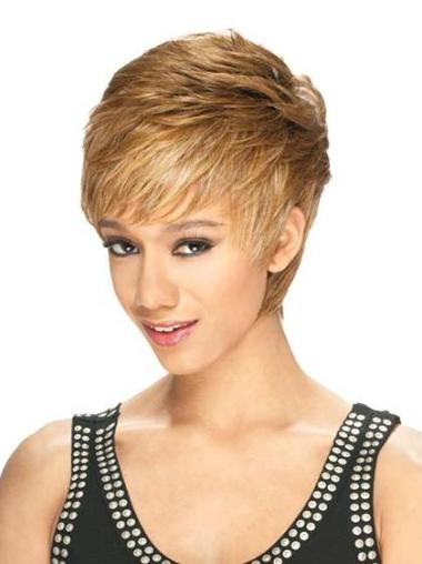 Short Straight Lace Front African American Wigs