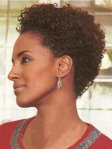 Short Curly Capless African American Wigs