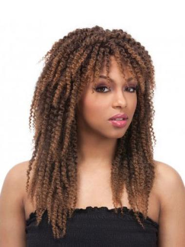 Capless Brown Synthetic Wigs