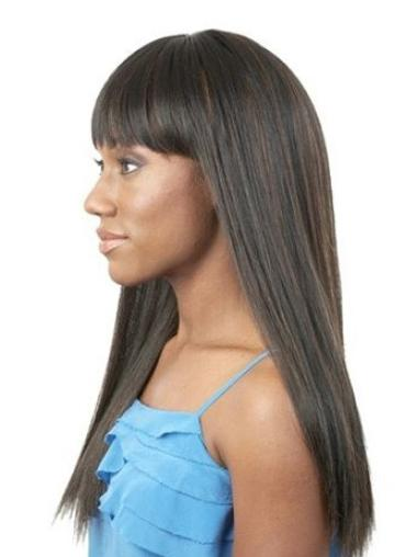 Capless Black Synthetic Wigs