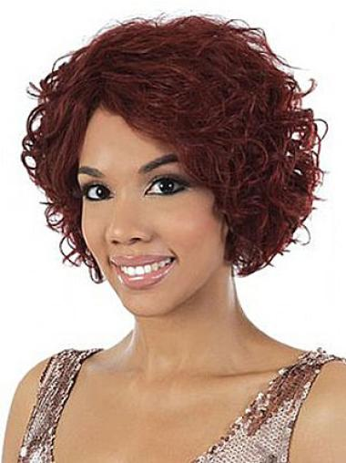 Capless Red Remy Human Hair Wigs