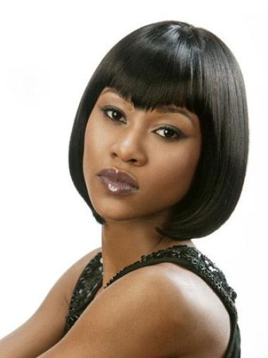 Lace Front Black Remy Human Hair Wigs