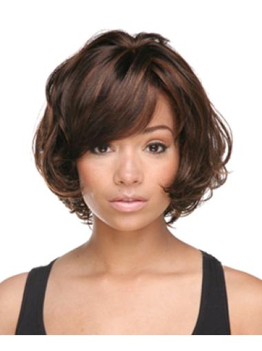 Short Wave Capless Brown Synthetic Bobs Fabulous Wigs