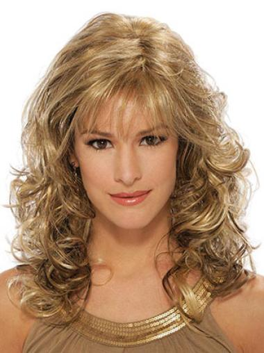Synthetic Blonde Curly Cheap Wigs