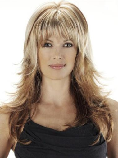 Synthetic Blonde Straight Modern Wigs