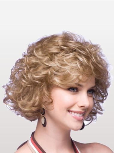 Medium Capless Blonde Incredible Synthetic Wigs