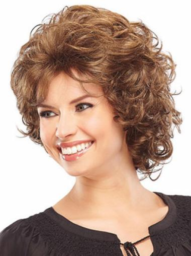 Short Capless Blonde Convenient Synthetic Wigs
