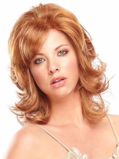 Medium Capless Auburn Incredible Synthetic Wigs