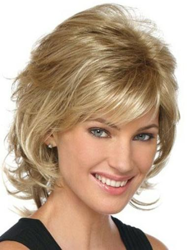 Synthetic Brown Wavy Designed Wigs