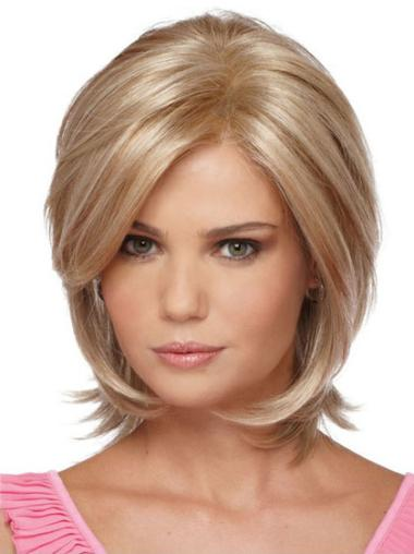 Synthetic Blonde Straight Flexibility Wigs