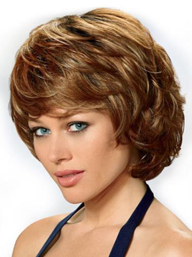 Synthetic Brown Curly Great Wigs