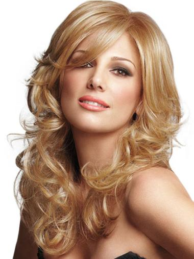 Synthetic Blonde Wavy Comfortable Wigs