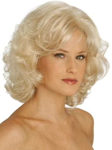 Synthetic Brown Curly Suitable Wigs
