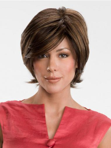Synthetic Brown Curly Modern Wigs