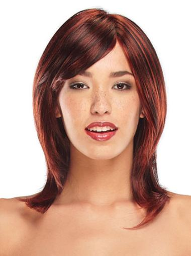 Synthetic Blonde Straight Capless Wigs