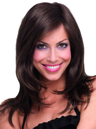 Long Capless Brown Soft Synthetic Wigs
