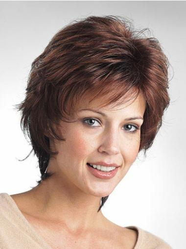 Short Capless Brown Flexibility Synthetic Wigs