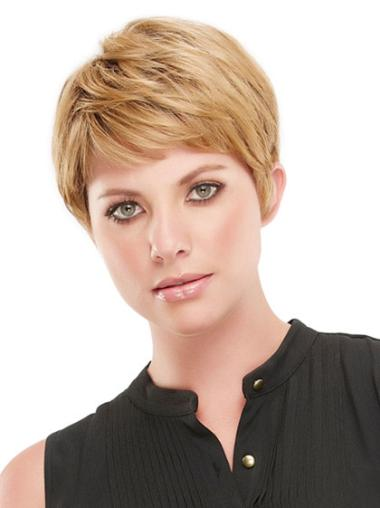 Synthetic Capless Straight Short Blonde Wigs