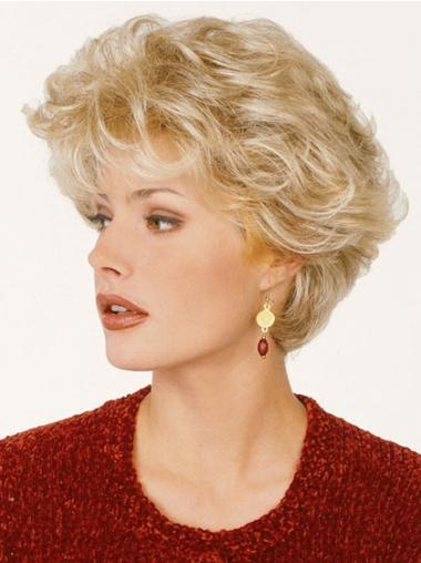 Blonde Synthetic Capless Wavy Short Wigs