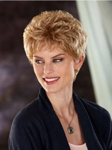 Synthetic Capless Wavy Short Blonde Wigs