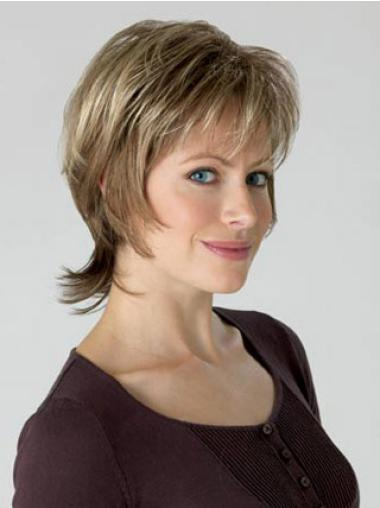 Synthetic Capless Curly Short Blonde Wigs