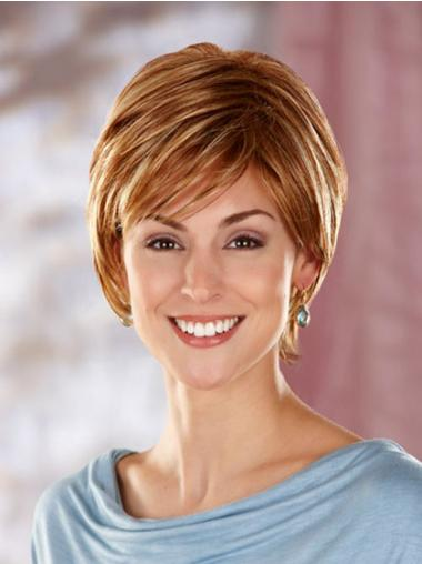 Synthetic Capless Straight Short Auburn Wigs