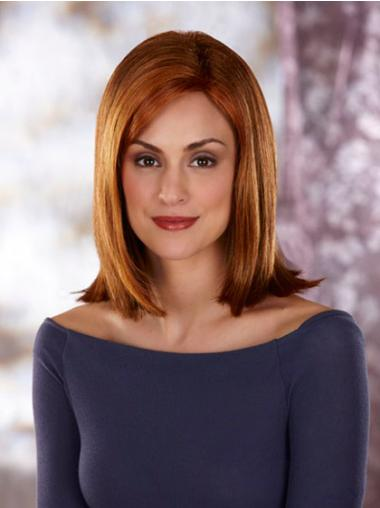 Synthetic Lace Front Straight Medium Auburn Wigs