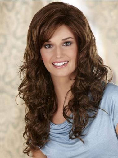 Synthetic Lace Front Curly Long Brown Wigs