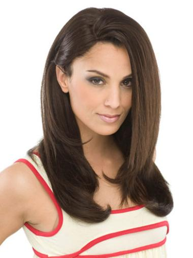 Long Capless Brown Trendy Synthetic Wigs