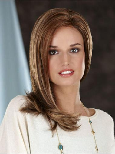 Synthetic Lace Front Straight Long Brown Wigs
