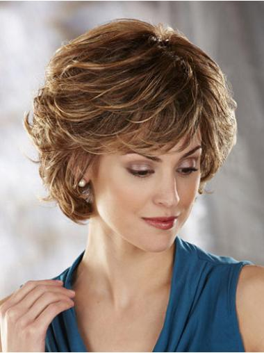 Synthetic Short Wavy Beautiful Blonde Wigs